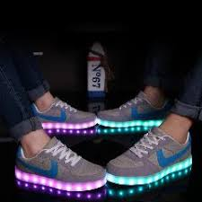 light shoes for women led shoes for adults 7 color usb charging led luminous shoes women