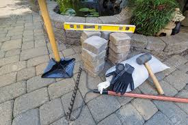 stone pavers for backyard patio pond hardscape with garden