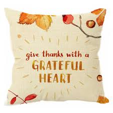 thanksgiving day decoration throw pillow water color flowers autumn