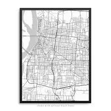 Memphis Map Memphis Tennessee Poster U2013 City Map Decor