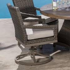 Swivel Patio Dining Chairs Bayou Breeze Eibhlin Swivel Patio Dining Chair With Cushion