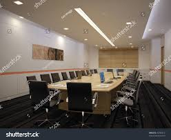 empty conference room interior design idea stock illustration