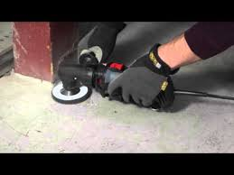 removing paint from concrete with the rotozip rotosaw youtube