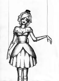 black ink marionette doll tattoo design for sleeve by dm tattoo