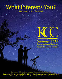 kcc community u0026 contract education schedule summer 2017 by klamath