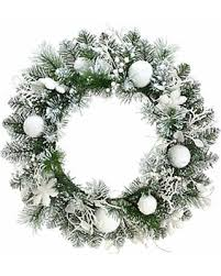 amazing deal on 24in flocked artificial wreath green