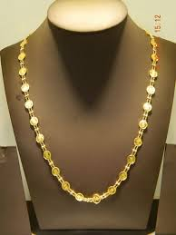 light chain necklace images Light weight lakshmi chain jewellery designs jpg