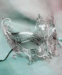 silver mask angel wings mask silver venetian masks