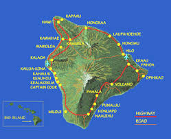 map of hawaii big island to help figure out where all the towns are the big island