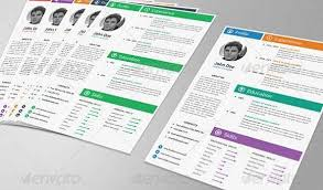 Eye Catching Resume Templates 20 Professional Resume Templates To Grab Attention