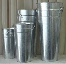 Tin Buckets For Centerpieces by French Flower Bucket Mud Rooms Outdoor Kitchen Bars And