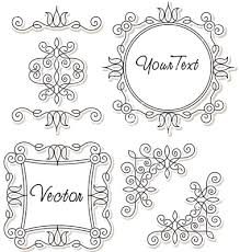 vintage frames and ornaments vector 392554 by milyana on