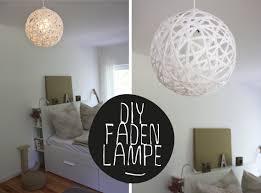 Schlafzimmer Lampe Schwarz Diy Wie Du Eine Faden Lampe Perfekt Rund Hinbekommst