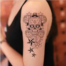fashion sugar skull tattoo for men 2 in one package buytra com