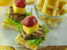 canapes fruit fish and fruit waffle canapes the kitchen