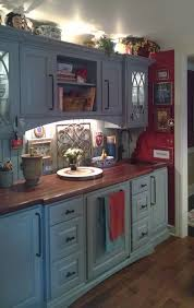 blue kitchen cabinets with wood countertops wood countertop options archives wood countertop