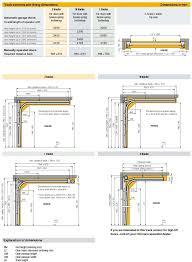 Garage Size Sectional Garage Door Measurement