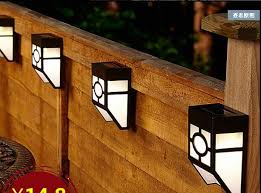 Outdoor Solar Lights For Fence 2018 Outdoor 2led Solar Garden Light Fence L Stair Lights Wall