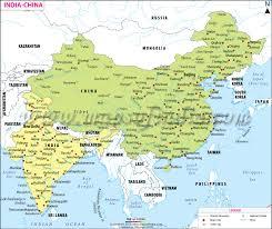 map of china india china map map of india and china