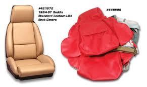 corvette seat covers c4 1994 1996 corvette standard leather like seat covers set