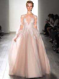 colored wedding dresses the prettiest blush and light pink wedding gowns