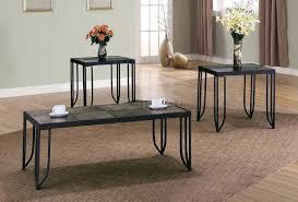 metal frame modern 3pc table set w removable tile tops