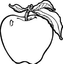 apple worm fruits coloring pages simple for kids printable picture