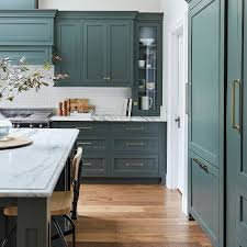 colored cabinets for kitchen this green hue will be a kitchen color trend in 2020