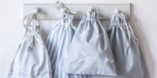 ticking stripe blue cot bed duvet cover childrens bedding