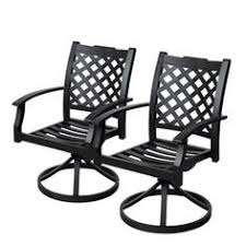 Swivel Rocker Patio Chair Allen Roth Collection Name 2 Count Gray Steel Patio Conversation