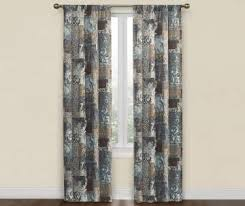 Chocolate Brown And Blue Curtains Curtains U0026 Window Treatments Big Lots