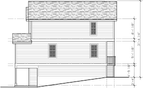 four plex house plans 4 unit multi family house plans f 558 house side elevation view for f 558 four plex house plans 4 unit