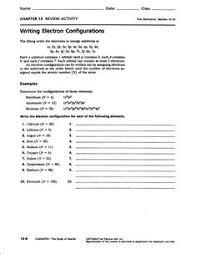 Electron Configuration Worksheet Answer Key Electron Configuration Worksheet And Study Guide For Chemistry