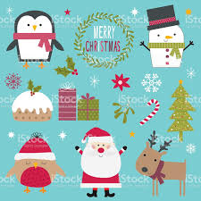Character Christmas Ornaments Design Collection Of Cute Characters And Christmas Ornaments Stock