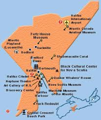 Halifax Canada Map by Nova Scotia Maps Tourism Routes
