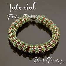flower beaded bracelet images Flower power beaded bangle pattern superduo bead pattern jpg