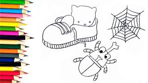 kids learn to draw and color animals how to draw kitty and beetle