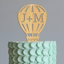 hot air balloon cake topper cake topper personalize cake topper hot air balloon intitials name