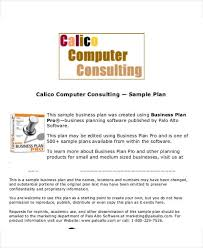 consulting business plan template template idea