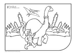 dinosaur colouring picture ichild