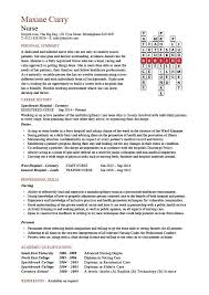 Sample Resume For Staff Nurse by Nursing Crossword Templates Cv Resume Cover Letters Layout Design