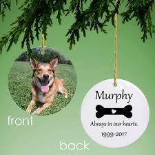 dog memorial memorial personalized photo ornament