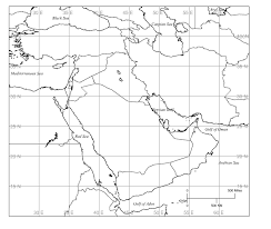 outline map middle east middle east blank map