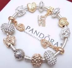 charm bracelet charms gold images Authentic pandora silver bangle charm bracelet with gold heart jpg