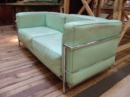 Buy Mid Century Modern Furniture by French Vintage Mid Century Modern Le Corbusier Style Leather Sofa