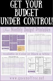 monthly bills spreadsheet printable free template papillon northwan