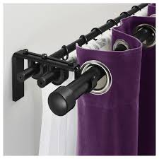 advantages of possessing double curtain rods picture lounge