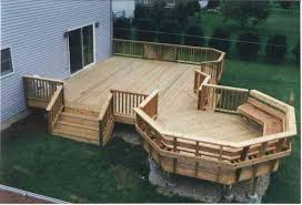 Backyard Deck Pictures by Octagon Deck Ideas Multi Level Deck With Starburst Rails And