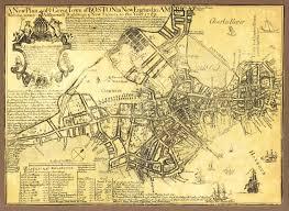Massachusetts City Map by Old War Map Boston Massachusetts City Map 1769