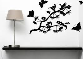 wall sticker vinyl decal butterflies flit lovely aroma flowers wall sticker vinyl decal butterflies flit lovely aroma flowers n101